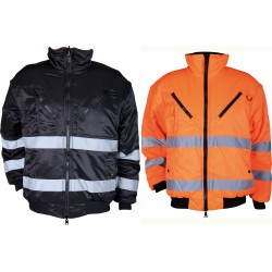 Мъжко двулицево яке BN PILOT (черно с оранжево)