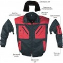 Waterproof thermoinsulate jacket BN CONTRAST PILOT