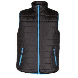 Winter padded vest SPEEDY- black/blue