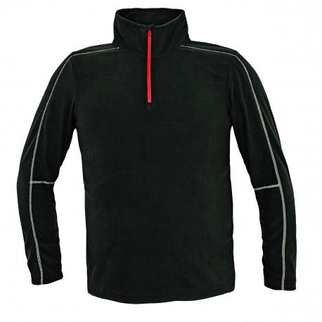 Черна блуза от полар модел WELLBURN