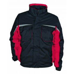 Зимно работно облекло - яке + полугащеризон KASTOR /черно+червено/