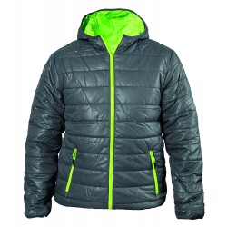 Winter sport jacket with a hood - Grey & Green