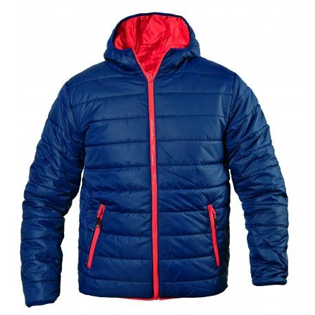 Спортно яке с качулка - тъмно синьо и червено