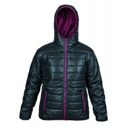 Women's sports jacket - Black and bordeaux
