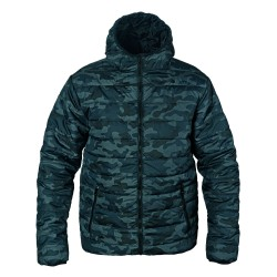 Winter sport jacket with a hood - Camouflage