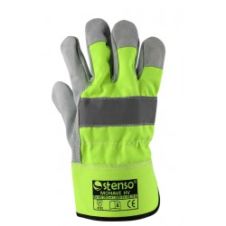 Работни ръкавици от цепена телешка кожа и плат MOHAVE HV