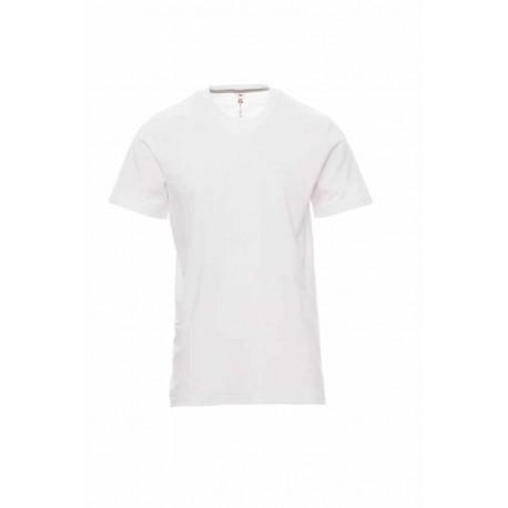 Тениска PAYPER модел Sunset - бяла