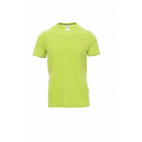 Тениска с обло деколте Payper Sunset цвят acidgreen