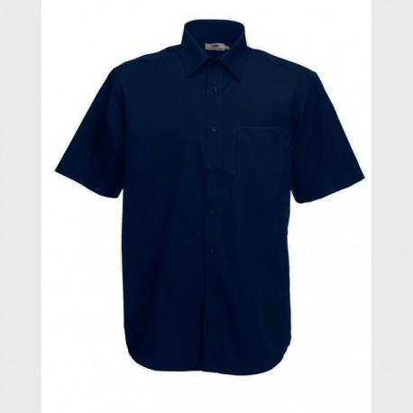 Класическа мъжка риза в тъмносин цвят