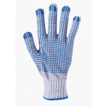 Работни ръкавици плетени с полимерни капки PLOVER Код: 01058002