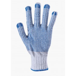 Work gloves knitted with PVC dots PLOVER