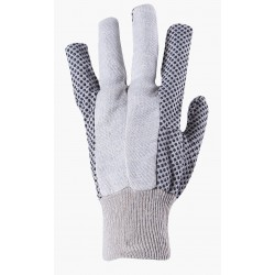 Work gloves from ecru cotton with PVC dots OSPREY