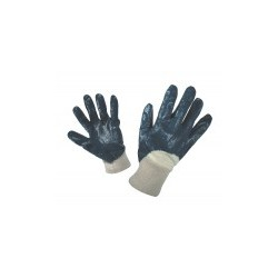 Work cotton gloves semi-dipped in nitril HARRIER