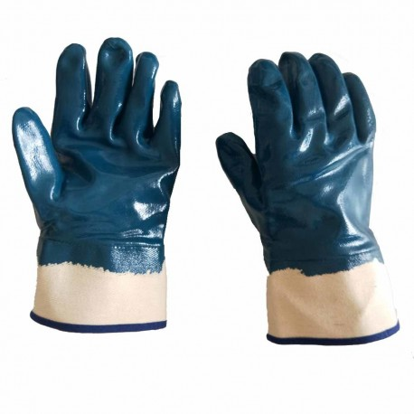 Работни ръкавици потопени в нитрил с твърд маншет