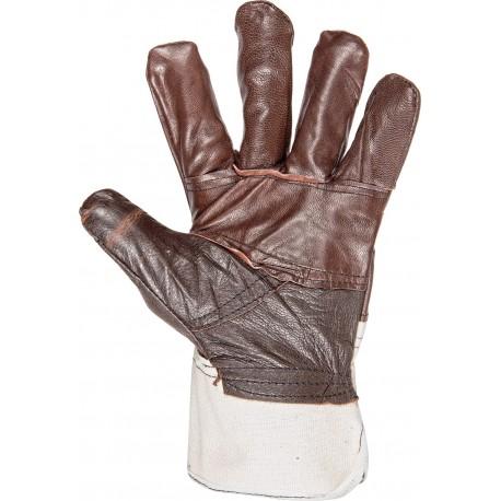Работни ръкавици от лицева телешка кожа и плат  Код: 077042