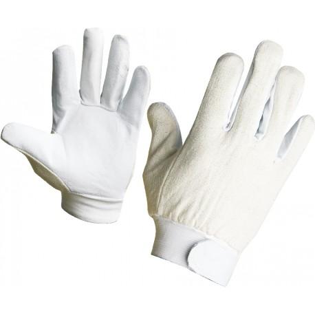 Ръкавици от кожа и текст. плат PELICAN