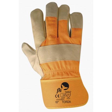 Ръкавици от  кожа и плат  TORDA