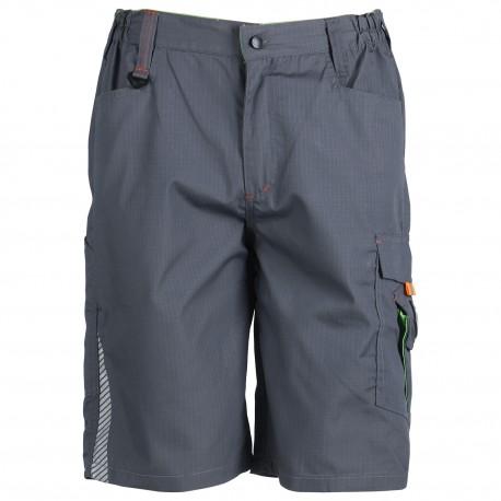 Къс панталон PRISMA SUMMER цвят сив/зелен