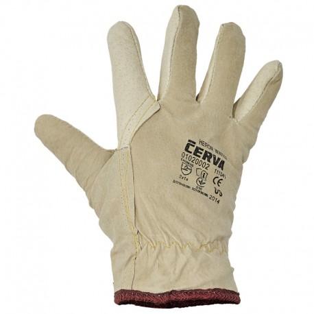 Работни зимни ръкавици от свинска кожа HERON WINTER