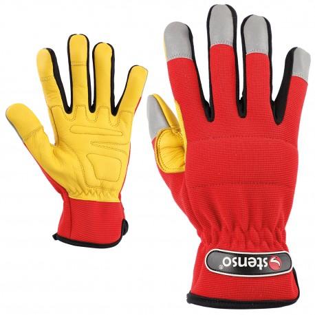 Работни ръкавици от кожа и плат LAGUNA