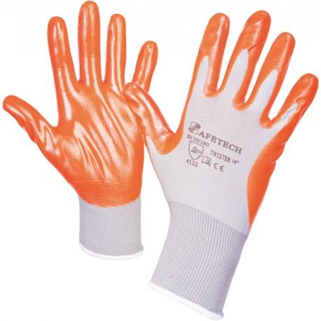 Работни ръкавици потопени в нитрил TWISTER
