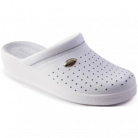 Медицински чехли от естествена кожа SANITAL. Код: 010425015
