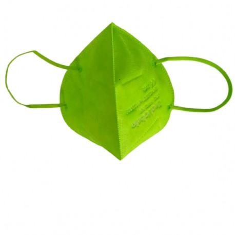 Сгъваема маска за дихателна защита N95 FFP2- зелена