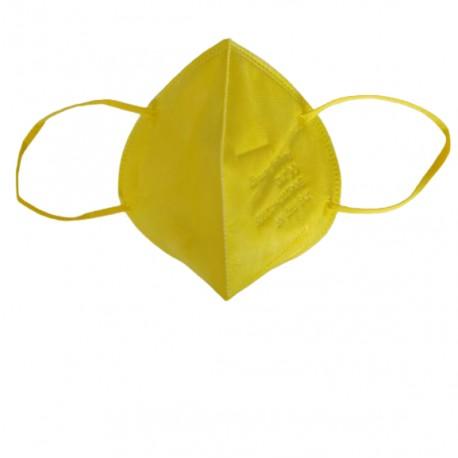 Сгъваема маска за дихателна защита N95 FFP2- жълта