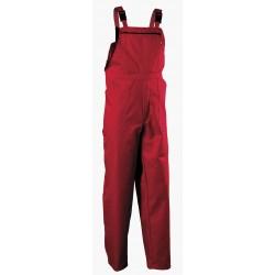 Памучен работен полугащеризон REX-BA /цвят червен/