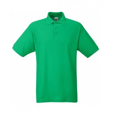 Тениска от трико с якичка/зелена/ Код: 01043001
