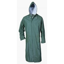 Coat with hood PVC/polyester CETUS/green/