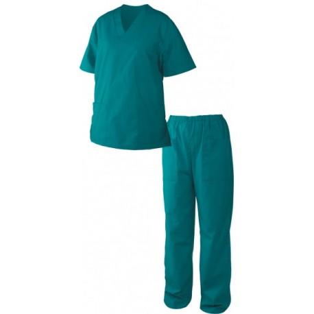 Медицински дрехи - Мъжка туника с панталон M3/зелен/ Код: 0104275