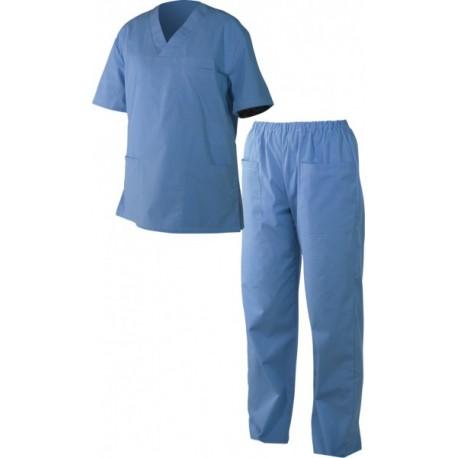 Медицински дрехи - Мъжка туника с панталон M3 /син/ Код: 0104276