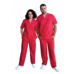 Medical tunic with trousers M3 /Red/