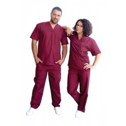 Medical garments unisex M3 - /Bordeaux/
