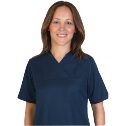 Дамски медицински комплект с къс ръкав /т.син/ Код: 010423094