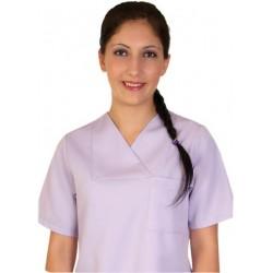Дамски медицински комплект с къс ръкав /лила/ Код: 010423095