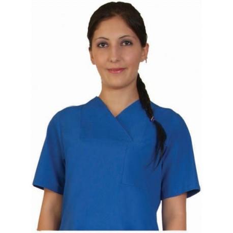 Дамски медицински комплект с къс ръкав /син/ Код: 010423023