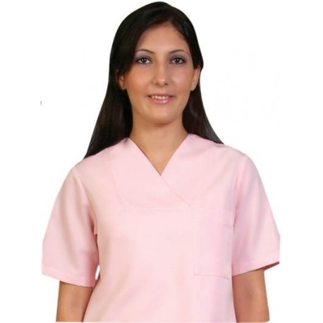Дамски медицински комплект с къс ръкав /розов/  Код: 2014