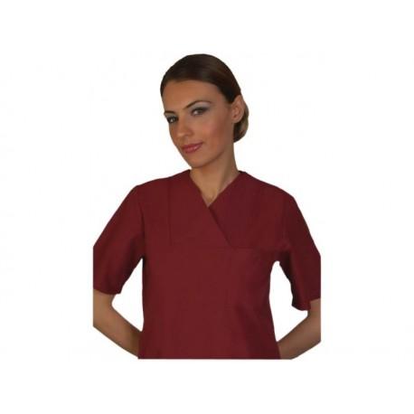 Медицински комплект с къс ръкав /бордо/ Код: 010423090