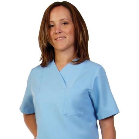 Дамски медицински комплект с къс ръкав /светло син/ Код: 010423088