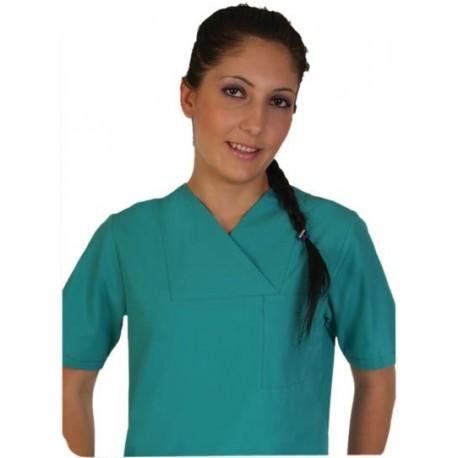 Дамски медицински комплект с къс ръкав /зелен/ Код: 010423087