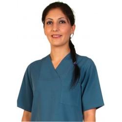 Дамски медицински комплект с къс ръкав /графит/