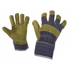 Работни ръкавици от цепена телешка кожа и плат TERN Код: 0105008