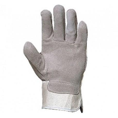 Работни ръкавици от цепена кожа /велур/ и плат Код: 111019