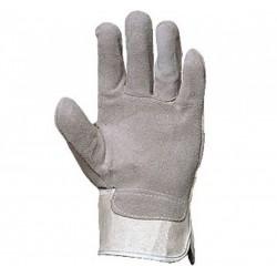 Работни ръкавици от цепена кожа /велур/ и плат