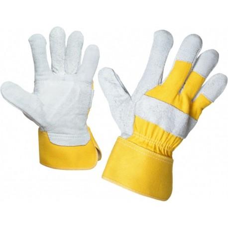 Работни ръкавици EIDER от цепена телешка кожа и плат Код: 0105012