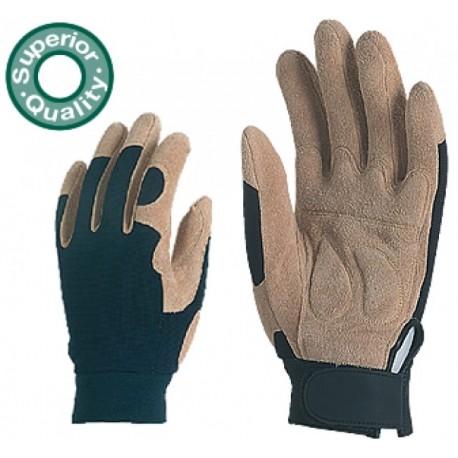 Работни ръкавици от кожа и плат Код:28104