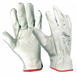 Work gloves white cow leather on palm