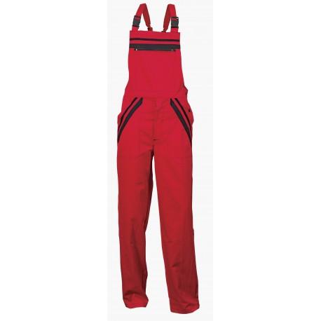 Работен костюм - полугащеризон и яке L1/цвят червен/ Код: 0104037